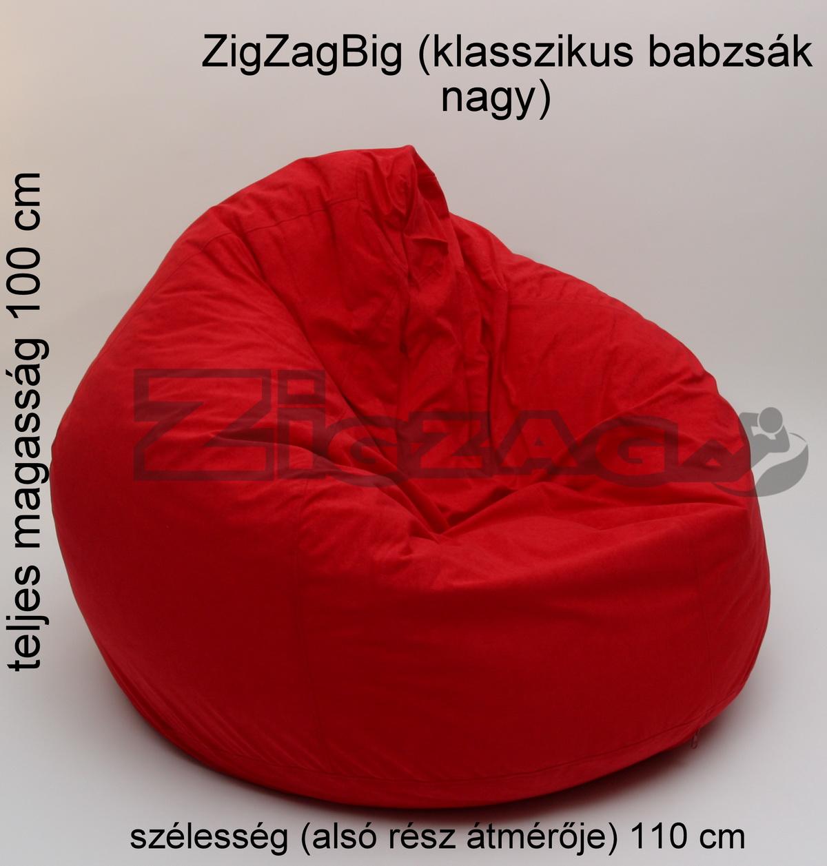 142c553600 ZigZagbig (klasszikus nagy méretű babzsák) - ZigZag babzsákfotel ...