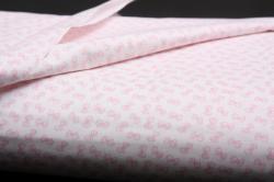 fehér alapon rózsaszín masnik