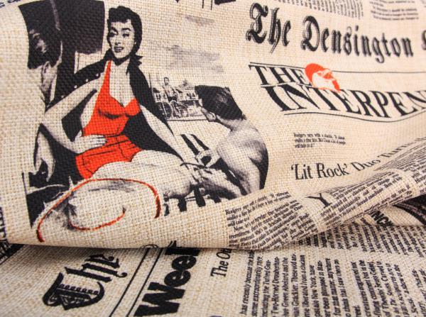 Design bútorszövet újságos